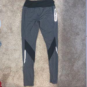 Gray athletic leggings